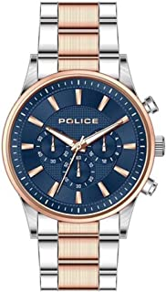 Bevilles Police Kastrup Mens Watch Model PL15589JSTR/03M Stainless Steel 3 Hands Multi Dial 4895220901376 Rose & Silver