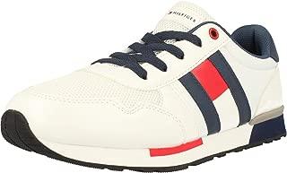 Tommy Hilfiger T1B4-30492-0739 Weiß Öko-Leder Säugling Trainer Schuhe