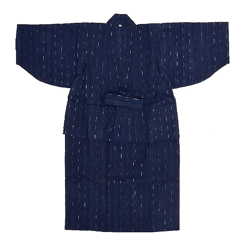 [ KIMONOMACHI ] しじら 浴衣単品「紺藍縞」 男児浴衣