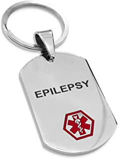 Tioneer Stainless Steel Classic Medical Alert ID Dog Tag Keychain Keyring