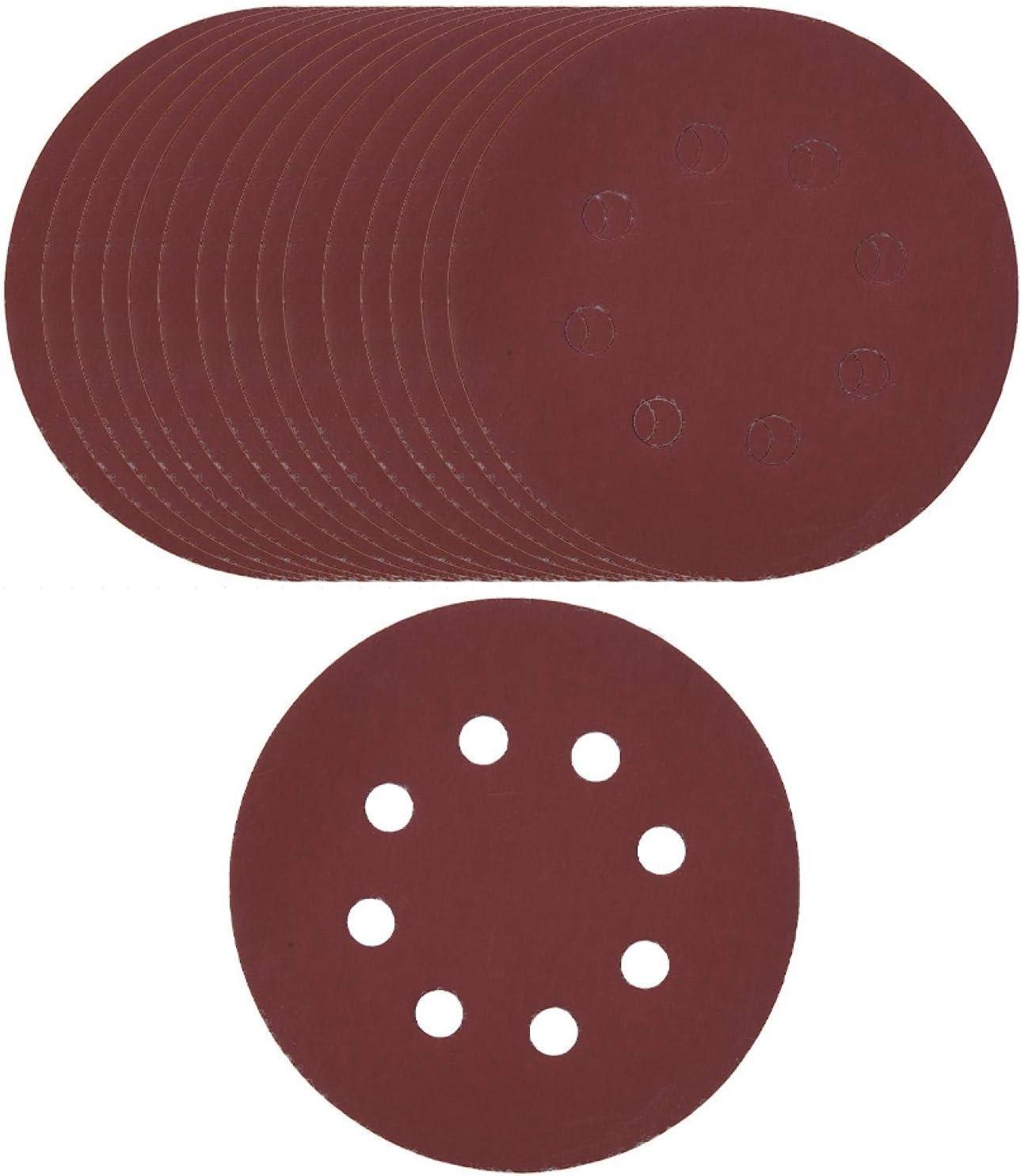 100PCS Metal Polishing 5 Import Inch 8 Discs Sanding Woo Ranking TOP8 Hole for