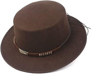 Hat Size 56-58CM Unisex Men Women Flat Fedora Top Hat With Belt Church Hat Wide Brim Hat Jazz Fascinator Hat Fashion Hat