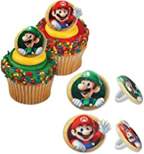 Bakery Crafts DecoPac Super Mario Cupcake Ring Party Favor Decorations, Random Assortment (24 Pack)