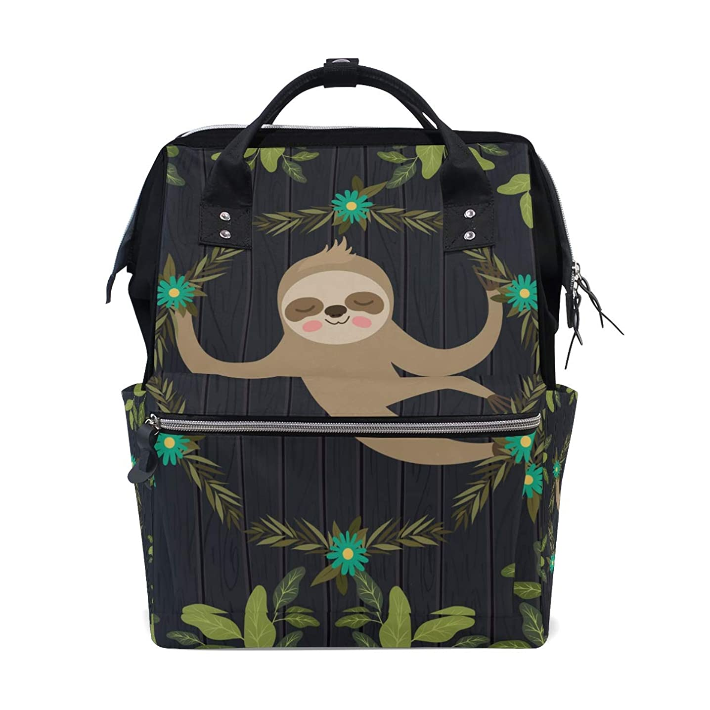 Cute Sloth School Backpack Large Capacity Mummy Bags Laptop Handbag Casual Travel Rucksack Satchel For Women Men Adult Teen Children