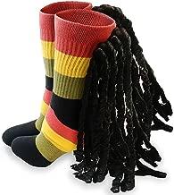 Lock Socks - Dreads for Your Feet, Mon - Dreadlock Socks - Fun Rasta Socks - Dread Locks - Unisex