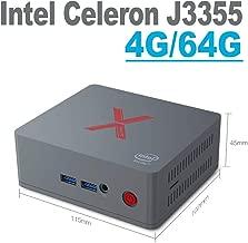 Mini PC Beelink BT3-X 4GB RAM LPDDR4 64GB eMMC Intel Apollo Lake Celeron Processor J3355 HD Graphics 500 Dual Screen Display 4K Desktop PC, VESA Mount,Dual WiFi