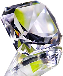 Faceted Crystal Glass Square Diamond Paperweight, Clear 48mm Jewel Paperweight, Gift Decoration Idea For Christmas, Birthday