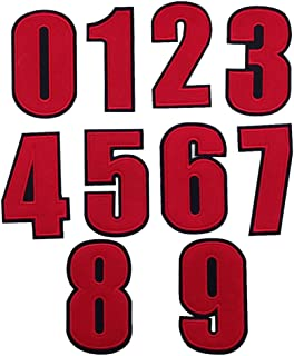 Number 0-9 Novelty Applique Patches (Iron or Sewing On)