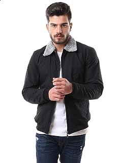 Andora Side Pockets Elastic Cuffs Fur Neck Jacket for Men