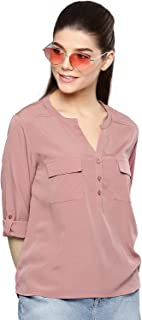 Harpa Women Boat Neck Solid Top