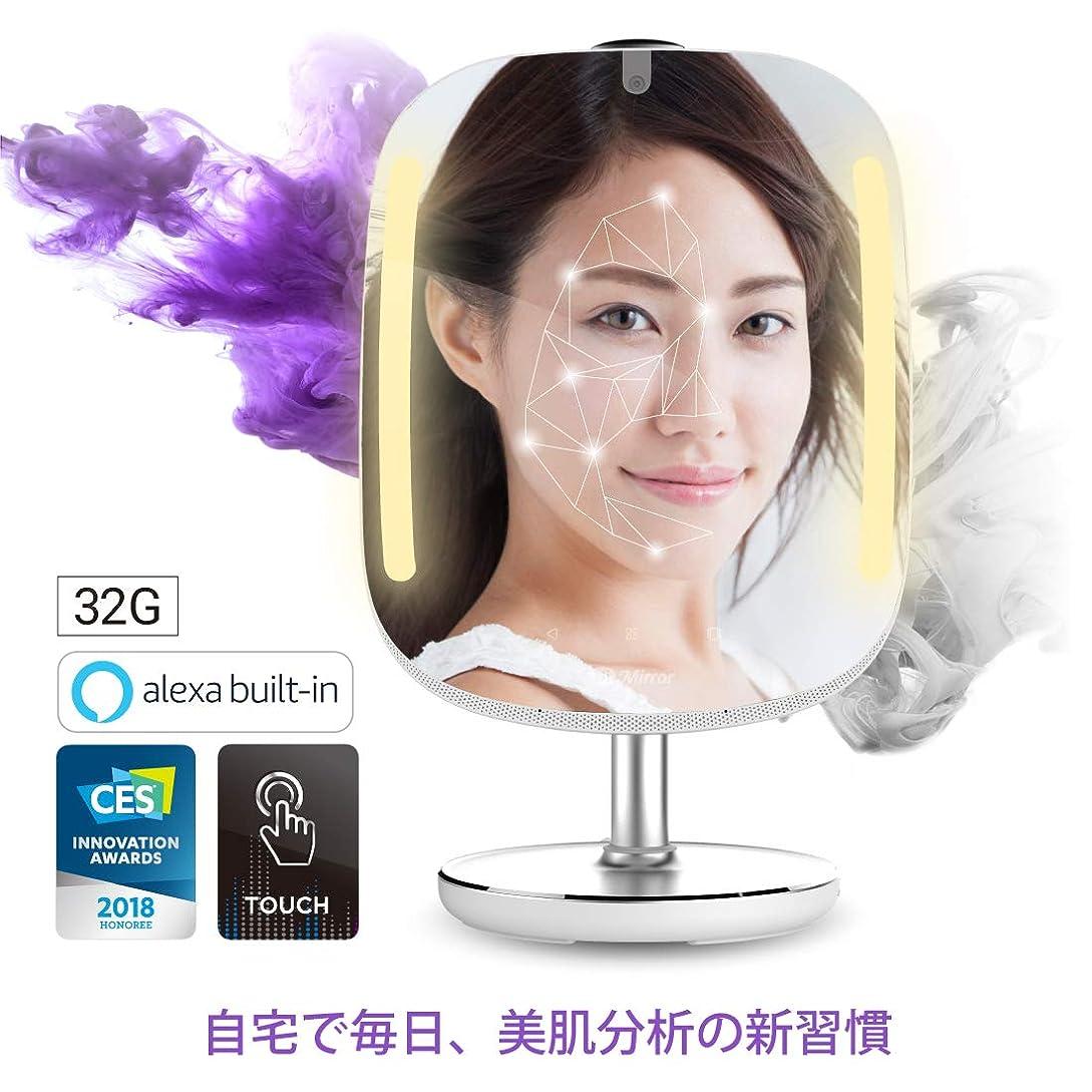 書道運動マーケティング【Amazon.co.jp限定】スマートミラー HiMirror Mini 肌分析 Amazon Alexa搭載 美顔 スキンケア アドバイス LEDメイクアップライト LEDミラー 拡大鏡 自宅で美肌分析 BM668CALTNH