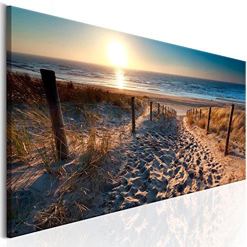 murando Cuadro en Lienzo Mar Playa 135x45 1 Parte Impresión en Material Tejido no Tejido Impresión Artística Imagen Gráfica Decoracion de Pared Paisaje Naturaleza c-B-0134-b-a