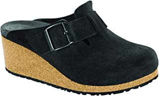 New Papillio Women's Fanny Wedge Clog Anthracite Suede 41 N