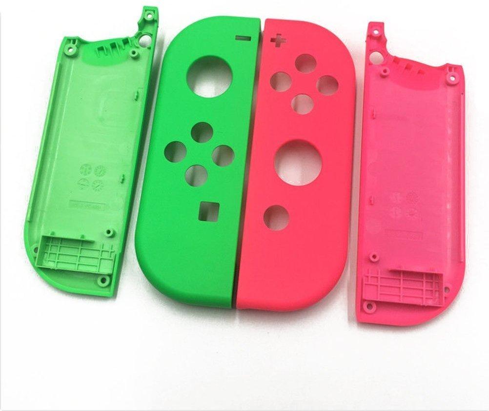 Carcasa completa para mando de Nintendo Switch, joy-con placa frontal izquierda, color verde y rosa: Amazon.es: Electrónica