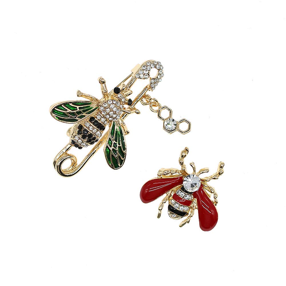 LLguz Women Bee Enamel Brooch Pin Jewelry Gift for Ladies