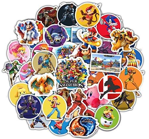 Cartoon Stickers[50pcs], Super Smash Stickers, Vinyl Sticker for Laptop Water Bottle Guitar Bike Car Motorcycle Bumper Luggage Skateboard Graffiti, Cute Decals, Best Gift for Kids,Children,Teen