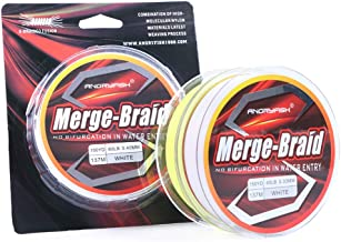 AKDSteel 150yd/137m Fishing Line PE Fire Pure Fluorocarbon Coated Merge-Braid 8 Strands Braided Fishing Line