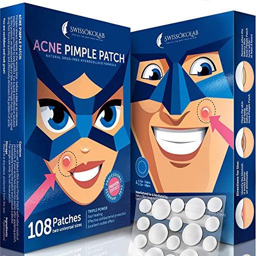 Acne Patch Pimple Patch Hydrocolloid Acne Stickers Absorbing Spot Dot Acne Cover 108 Acne Dots Pimple Sticker Acne Pimple Master Patch Blemish Patches