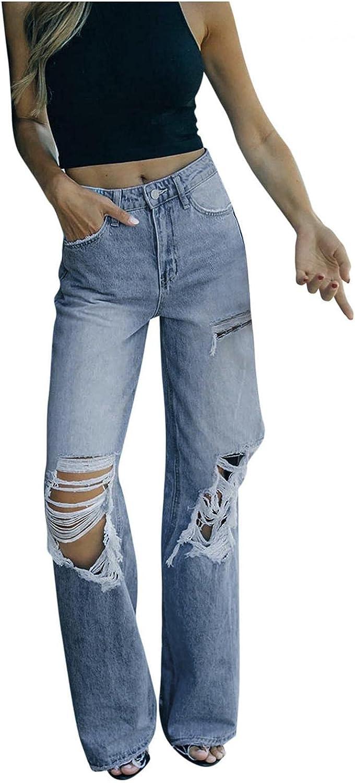 Jeans for Women High Waist, Handyulong Womens High Waisted Skinny Denim Stretch Length Jeans Loose Baggy Legging Pants