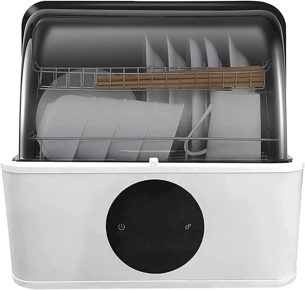 MOSHUO Lavavajillas portátil de Escritorio, lavavajillas doméstico de desinfección pequeña sin instalación automática, Adecuado para Lavar Frutas, Verduras y vajilla