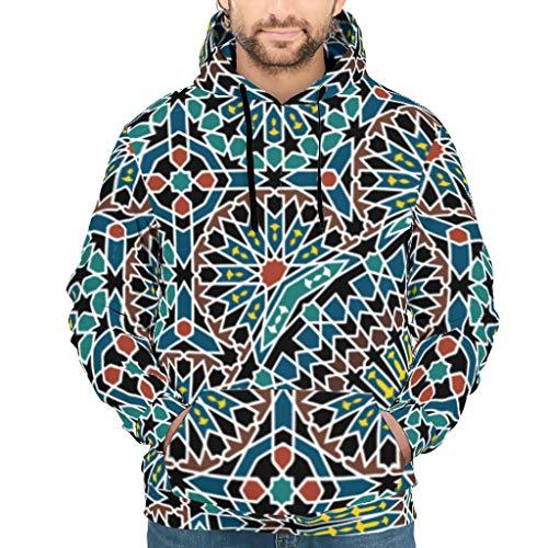 ANVPI Mandala bedrukt mannen capuchon lange mouwen casual sport trui top drawstring tassen geschenk voor familie