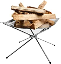 Rootless Medium 16.5 Inch Portable Outdoor Fire Pit: Collapsing Steel Mesh Fireplace - Perfect for Camping, Backyard, Trekking, Tailgating and Garden - Carrying Bag Included