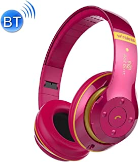 V30 Wireless Bluetooth 4.2 Headphone with Mic & FM & TF Card & Handfree Function, for iPhone, iPad, iPod, Samsung, HTC, Sony, Huawei, Xiaomi and Other Audio Devices Durable (Color : Magenta)