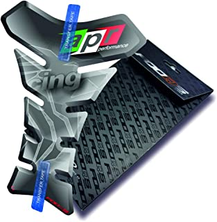 Motorcycle Gas Protector Sticker / 3D Rubber Fuel Tank Pad Tankpad Protector Decal for Aprilia Rs-4 Rs4 Rs 4 Rsv-4 Rsv4 Rsv Tuono 125 Touno125 Shiver Rs-50 Rs50 Rs-125 Rs250 Rsv1000 Mille (Silver)