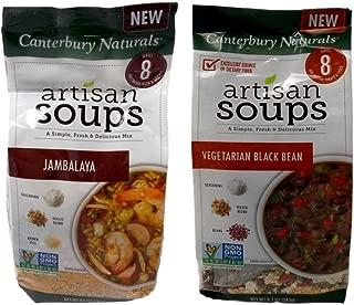 Canterbury Naturals Non-GMO Artisan Soup Mix 2 Flavor Variety Bundle: (1) Jambalaya, and (1) Vegetarian Black Bean (8.5-8.7 Ounces)