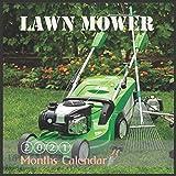 Lawn Mower Calendar: 2021 Calendar Electric Lawn Mower With Holidays 16 Month lawnmower Calendar