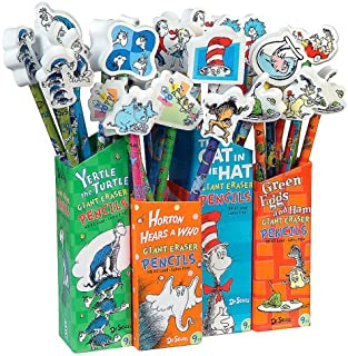 Dr Seuss Pencils with Giant Eraser Toppers, 36 Pieces (66865)