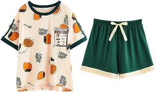 パジャマ レディース 夏 綿 半袖 Unifizz ルームウェア ホームウェア Tシャツ ショートパンツ 2点セット 春 薄手 快適 柔らか 吸汗 通気 可愛い ゆったり ルーズ ネグリジェ 部屋着 寝間着 プレゼント Womens Pyjamas