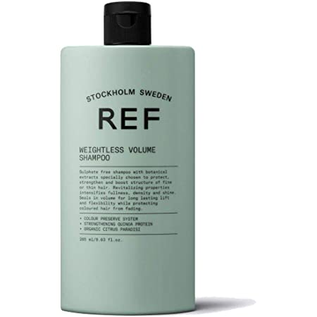 REF Weightless Volume Mujeres No profesional Champú 285 ml - Champues (Mujeres, No profesional, Champú, Cabello normal, 285 ml, Fortalecimiento)