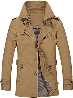 Ericcay Giacca Da Uomo Casual Da Uomo Coat Trench Elegante Cappotto Unico Corto Giacca Monopetto Cappotto Con Colletto All...