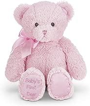 Bearington Baby's First Teddy Bear Pink Plush Stuffed Animal, 12 inches