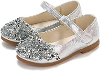 )))))))))))))))))💖 💖Kids Girls Crystal Leather Single Shoes Party Princess Shoes