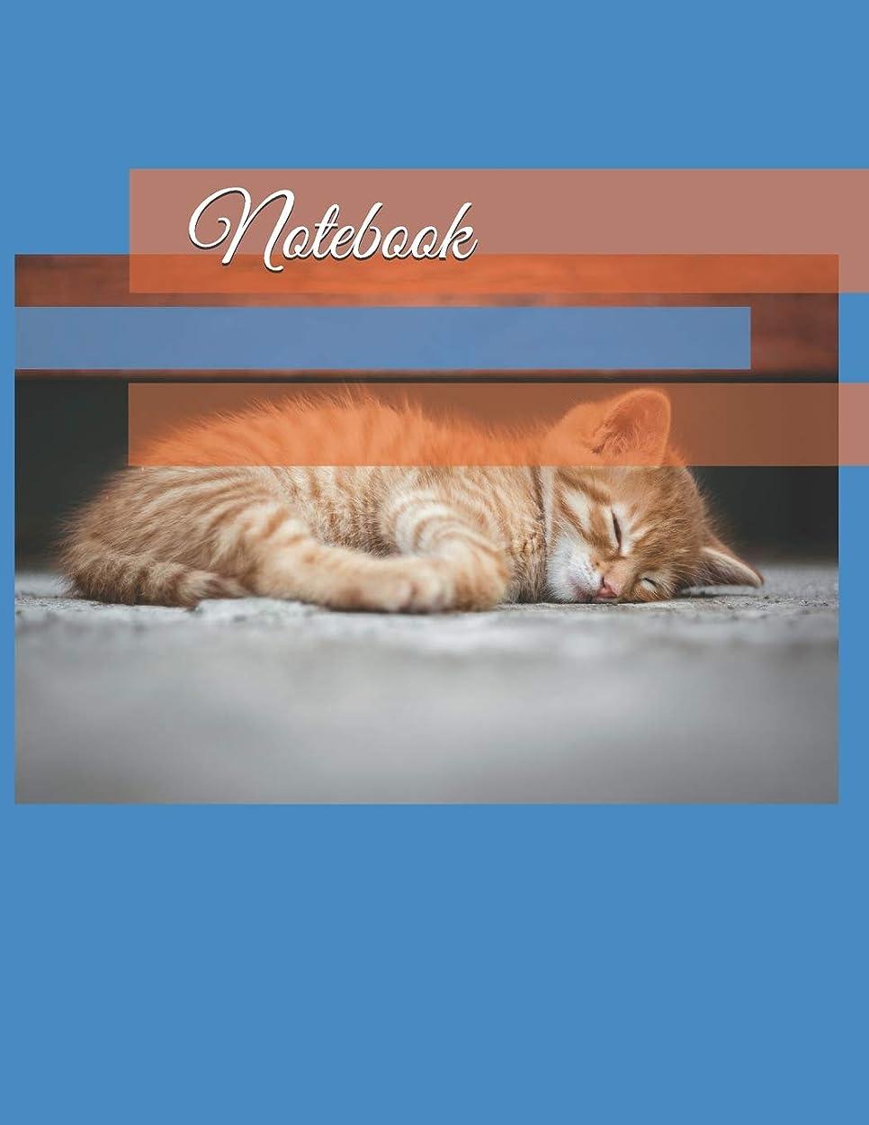安らぎさびた魔術Notebook: 35 page (8.5 x 11 inch) Large Composition Book, Journal, Diary, Cat Watermark Picture on Lined Pages