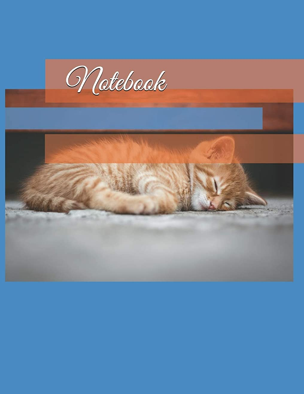 受動的ドメイン襲撃Notebook: 35 page (8.5 x 11 inch) Large Composition Book, Journal, Diary, Cat Watermark Picture on Lined Pages