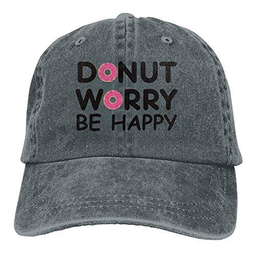 ANIDOG Donut Worry Be Happy Gorras de béisbol Sombreros de Mezclilla para Hombres Mujeres