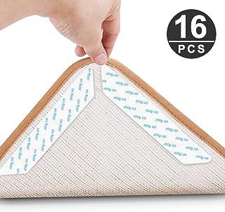 Jooheli - Juego de 16 Alfombrillas Antideslizantes para alfombras, Antideslizantes, Reutilizables, Pegatinas, Fuerte adherencia
