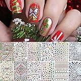 1000 Patterns Christmas Nail Art Stickers...