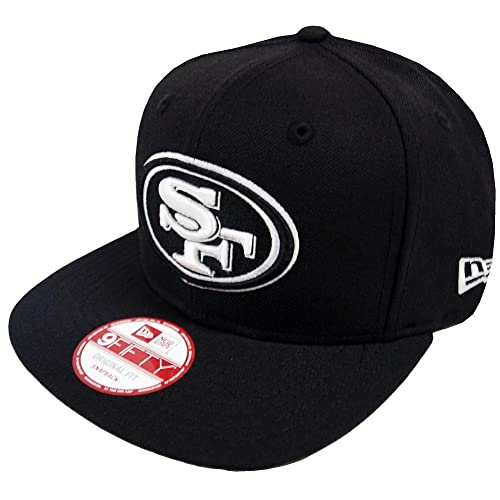 sale retailer 2b74b 30172 New Era Black White Logo Snapback Cap 9fifty