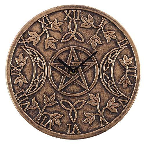 Spirit of Equinox Wanduhr, dreifach mondförmig, Terrakotta