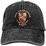 Covder52 KERLANDER 2nd Bn 17th Field Artillery Regiment Camp Pelham Korea Adjustable Washed Twill...