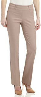 REKUCCI Women's Ease in to Comfort Fit Barely Bootcut Stretch Pants 4 Khaki
