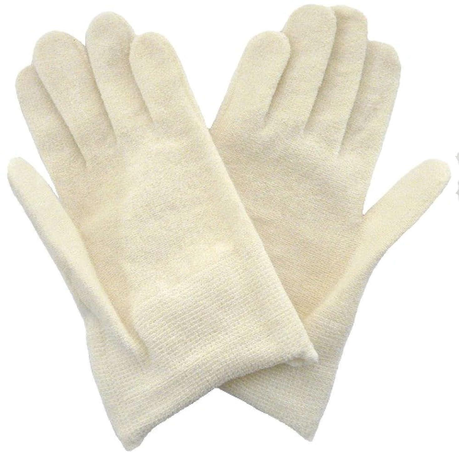 優しさ人形控えめな【アトピー】【水疱瘡】【皮膚炎】 ナノミックス おやすみ手袋:キッズ用 アイボリー