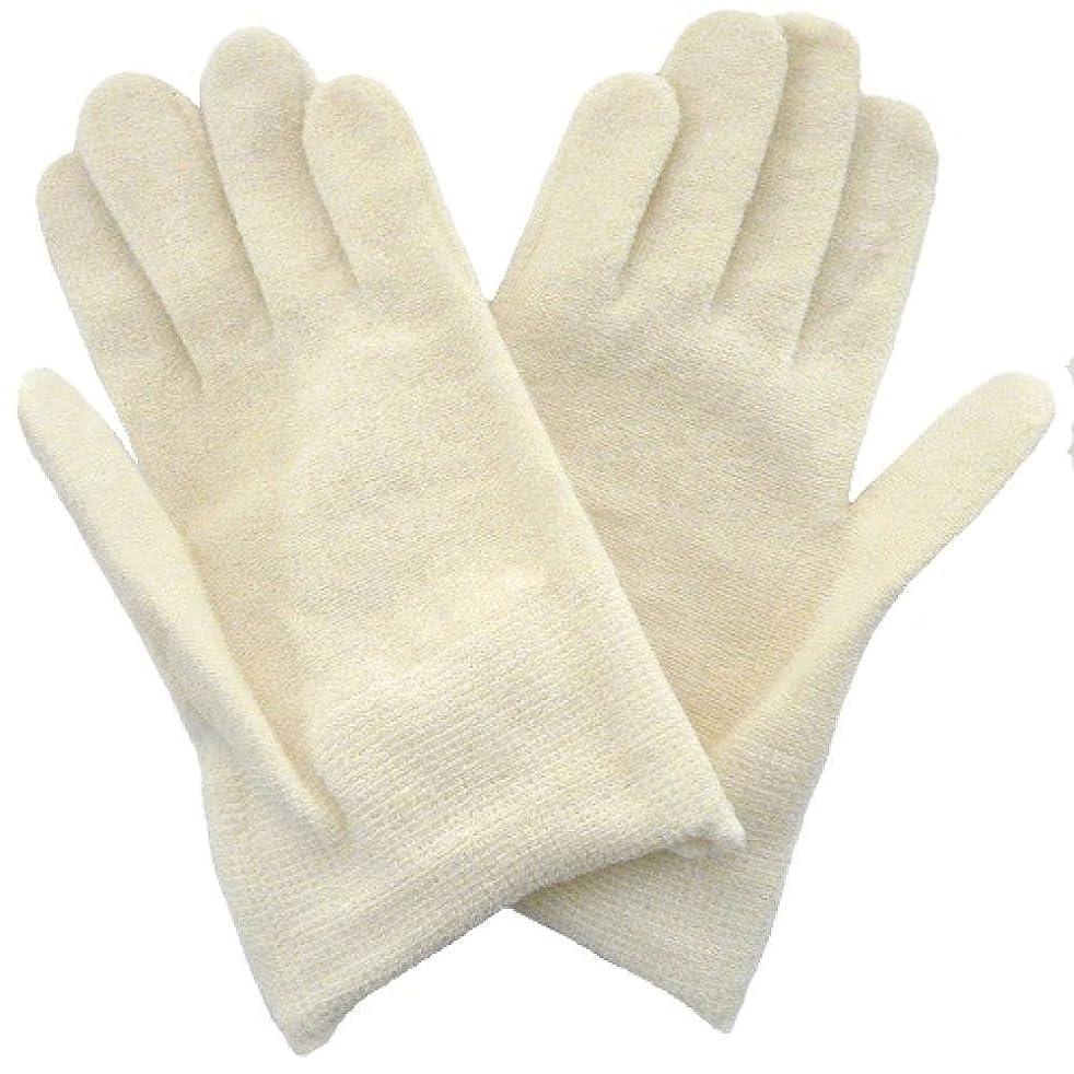 法王遷移つかいます【アトピー】【水疱瘡】【皮膚炎】 ナノミックス おやすみ手袋:キッズ用 アイボリー