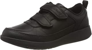Clarks Boys' Scape Flare K Low-Top Sneakers, Black (Black Leather Black Leather)
