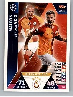 2018-19 Topps UEFA Champions League Match Attax #378 Serdar Aziz Galatasaray S.K. Official Futbol Soccer Card