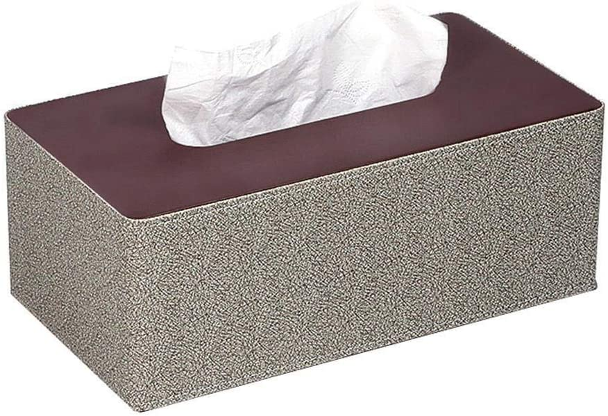 Tissues box High order cover Rectangular We OFFer at cheap prices Synthetic Ring Napkin for Leather
